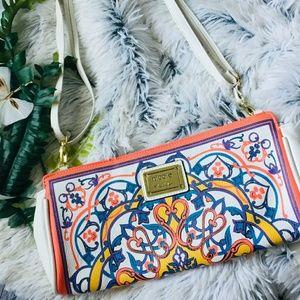Nicole Miller multicolored patterned purse